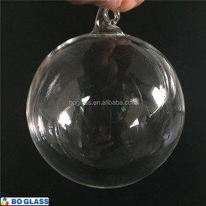 CLEAR GLASS BALL FOR LIGHTING OR HOME DECORATION