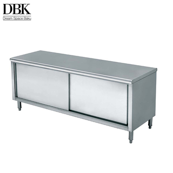 Factory direct price adjustable stainless steel kitchen work tables for fashion design