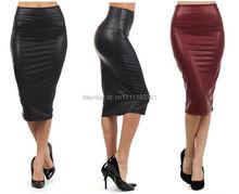 Elegantní kožená sukně ve velkých velikostech