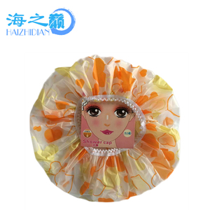 Wholesale Comfortable and Elastic Baby and Hotel Pvc Christmas Shower Cap