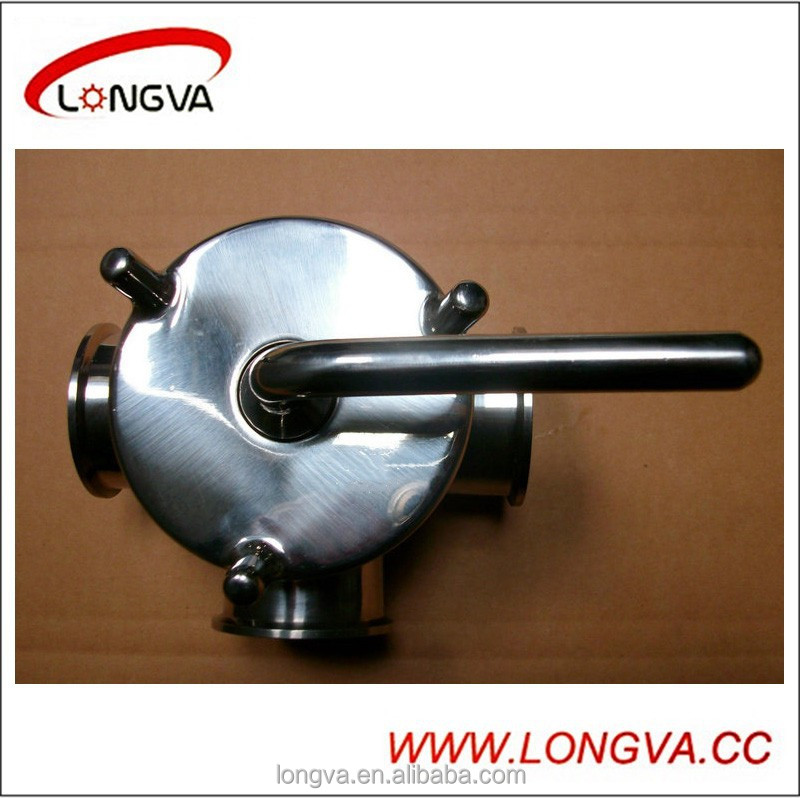 stainless steel three way plug valve