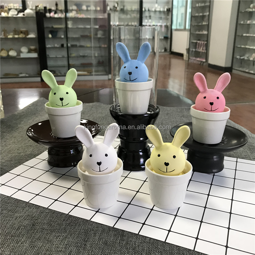 2017 Factory Hot Seller Ceramic Pot Aroma Stone Animal reed diffuser bottles for home decor