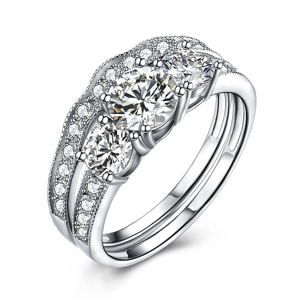 Custom Cz 925 Sterling Jewelry Women Engagement Wedding Silver Ring фото
