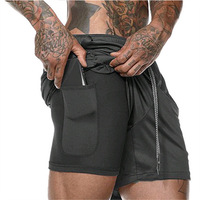OEM mens gym shorts with pockets quick-drying breathable outdoor wear workout polyester running shorts