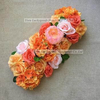 Factory sale personalized outdoor decoration silk orange flower arch factory sale personalized outdoor decoration silk orange flower arch mightylinksfo