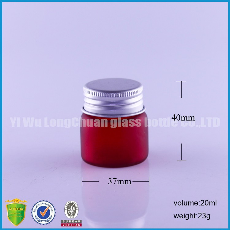 small frosted glass bottle for cosmetic packaging eye cream empty jar