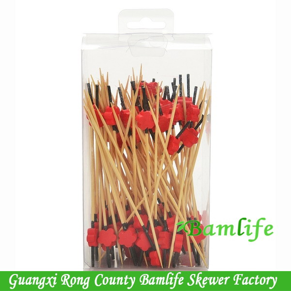 Good quality most popular flowers pearl bamboo skewers