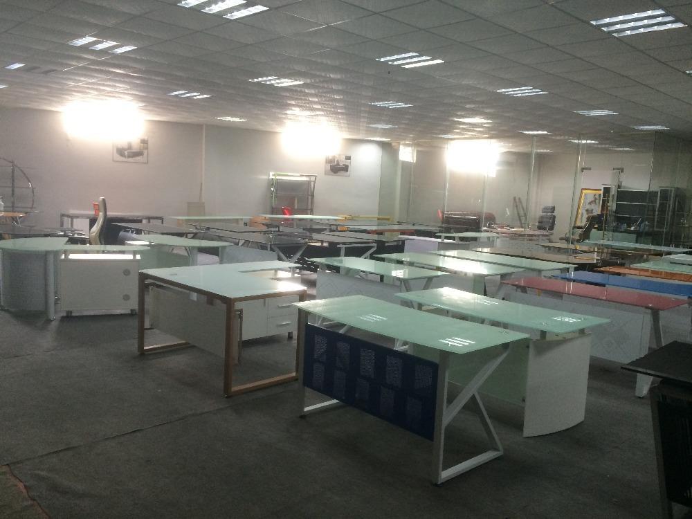 Modern Office Furniture Table Design/ Executive Office Desk/tempered Glass  Computer Desk DC