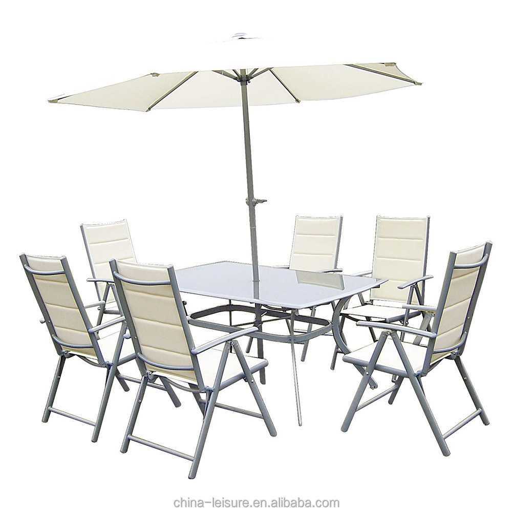 Modern white outdoor patio furniture aluminum powder coated