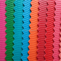 colorful hard lattice surface PVC leather for bags DH279