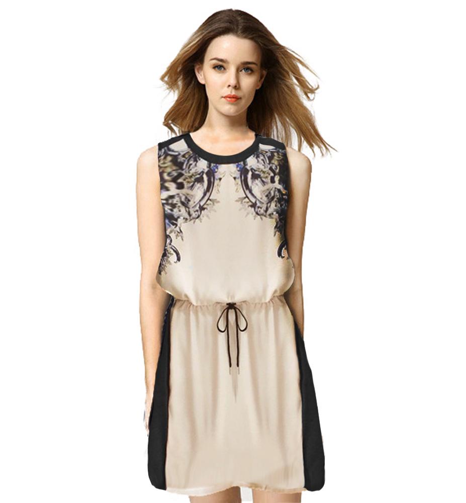 3a87f6ca97 Get Quotations · Women Summer Dress 2015 New Fashion Vestidos De Festa  Casual Floral Sleeveless Party Cocktail Short Mini