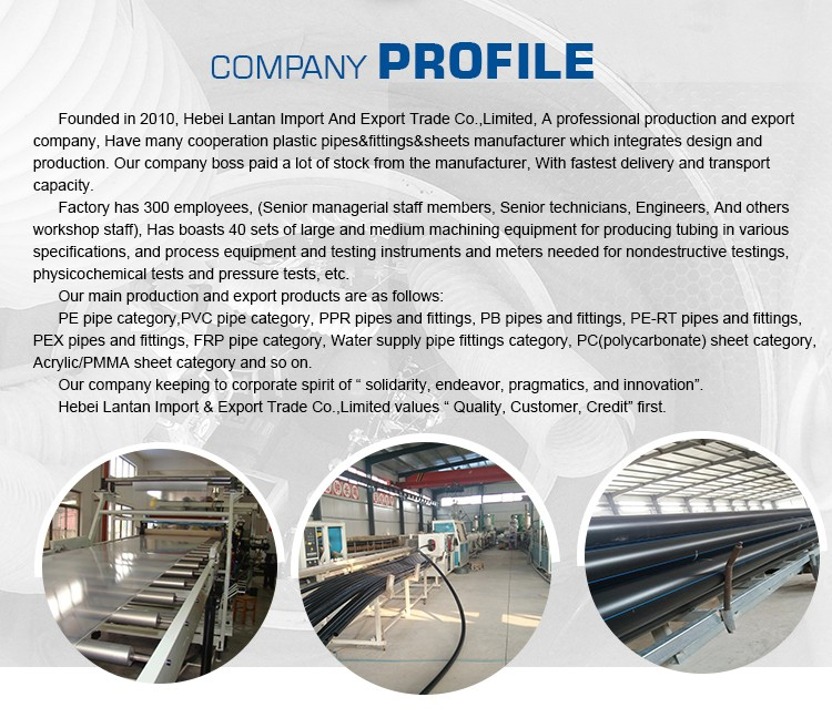 Factory export and show water supply hdpe pipe production line
