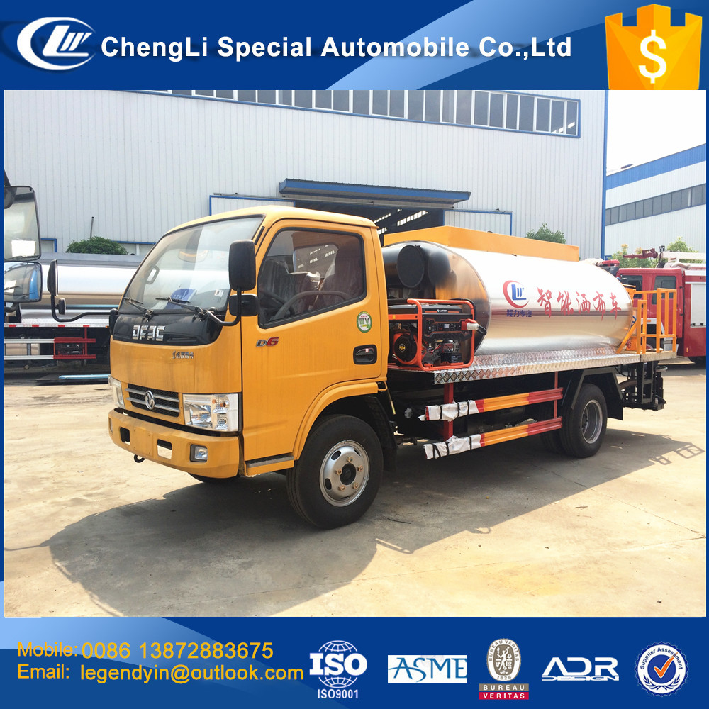 CLW engineering yellow color 6 cbm smart type bitumen spray truck asphalt distributor truck for road construction