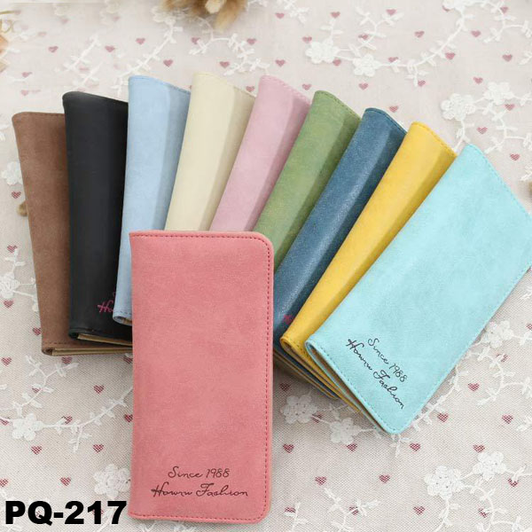 Stock Wholesale Multi-colors Ultra-thin Girls PU Wallets And Purses