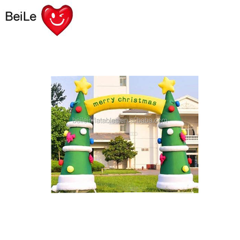 Commercial outdoor decorative inflatable Christmas tree arch