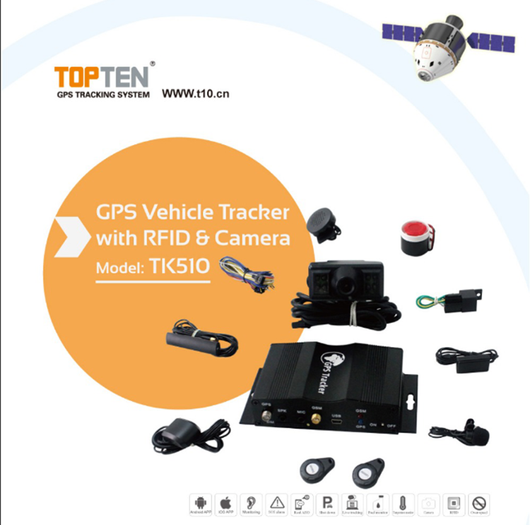 TK510 2.4G RFID car gps remote control alarm online tracking system for sale