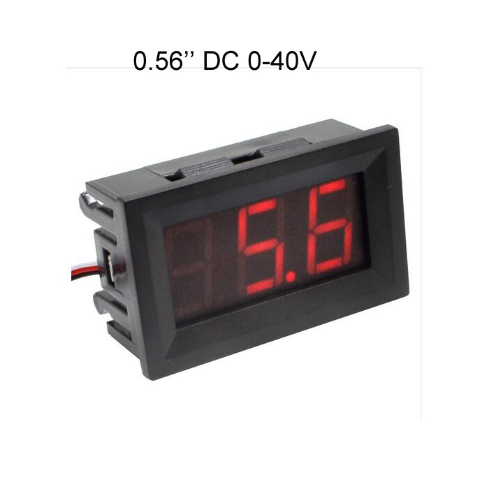Digital DC Volt voltage Meter Voltmeter 0-40V 0-100V red blue green LED
