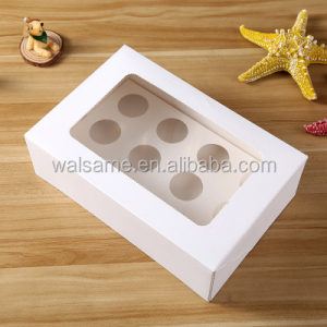 high quality white color 12 holes 24 holes mini cupcake box