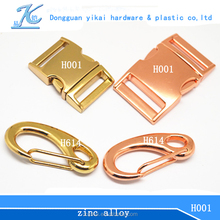 Gold supplier curved dog collar buckle,side release curved buckle for dog collar