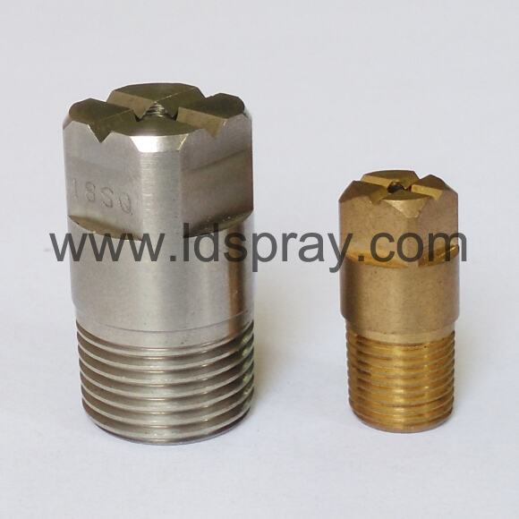 Stainless steel brass full cone square spray jet nozzle
