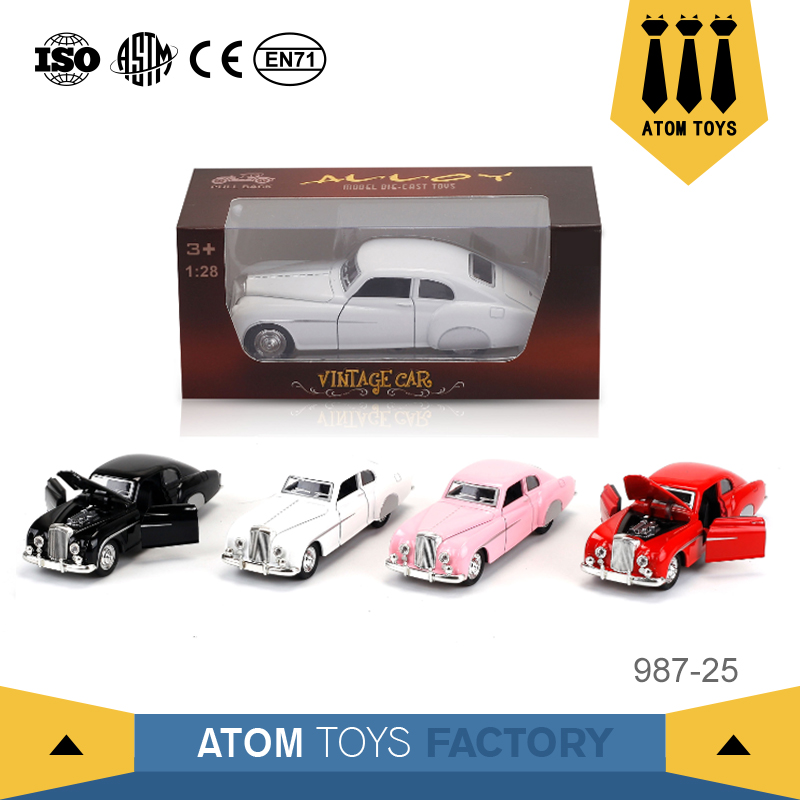 Alibaba china best supplier metal toy 1:28 scale car model accept custom