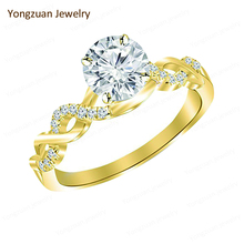 American Diamond Jewellery Sets From China Personal Custom Round Shape Diamond Lover Proposal Ring