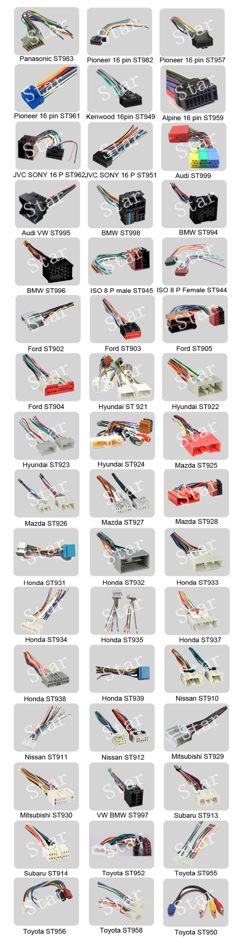 Update For Suzuki Using Wiring Electric Car Stereo Iso Connector Harness Audi Wire