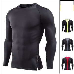 New Style Plus Size Men T-shirt Long Sleeve Compression Shirt