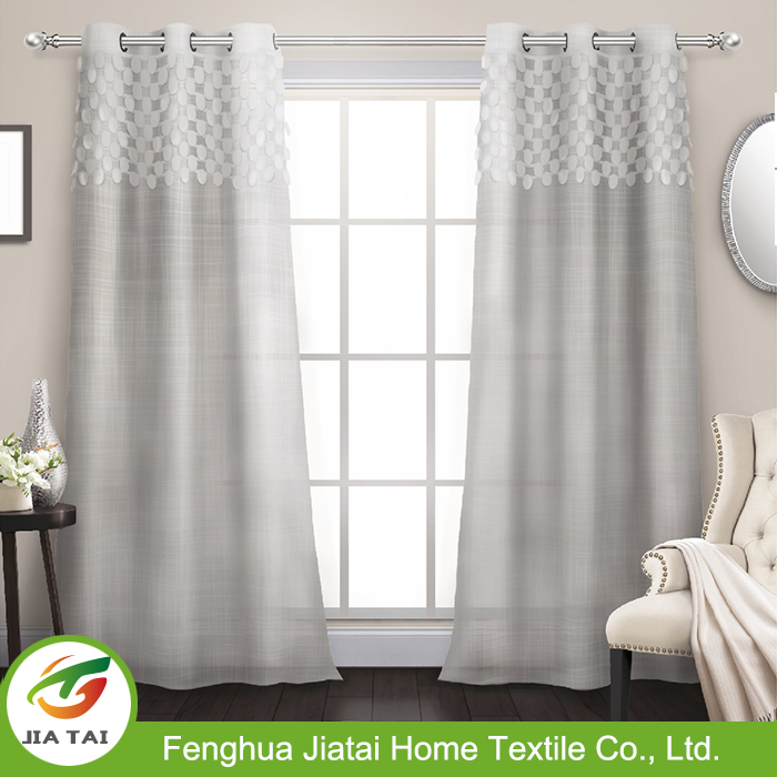 Online extra long curtains window white jacquard large curtains for living room