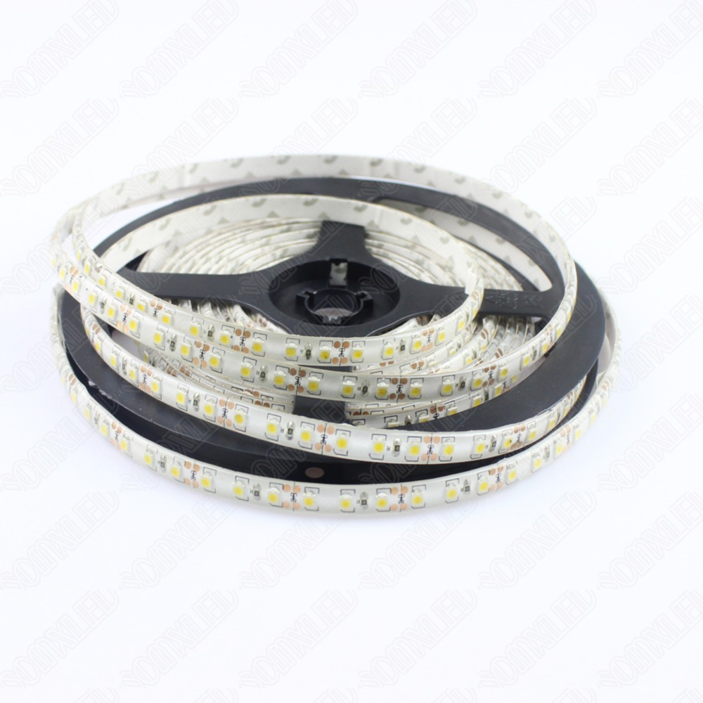 DC 12V 120leds/m LED Strip Lights 3528 SMD Waterproof IP65 20m/lot  Red/Green/White/Warm White/Yellow/Blue