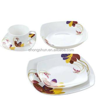 Microwave Dishwasher Safe Square Mexican Porcelain Dinnerware Set