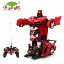 6 channel toy deformation robot car for kids