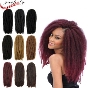 Factory Wholesale Hot Selling marley hair braid afro curl marley braid hair synthetic afro twist hair braid
