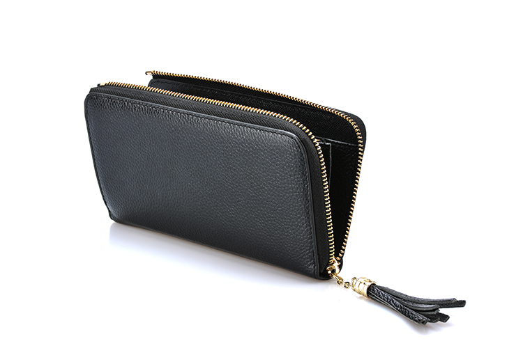High grade latest stylish wholesale genuine leather vintage women wallet