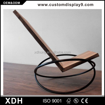 Simple Design Metal Leg Rocking Leisure Chair Modern Lounge Chair