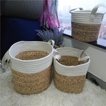 New Fashion Seagrass& Rope Stitched Cotton Rope Woven Basket Buy Cotton Rope Woven Basket,New Fashion Cotton Rope Woven Basket,Stitched Otton Rope