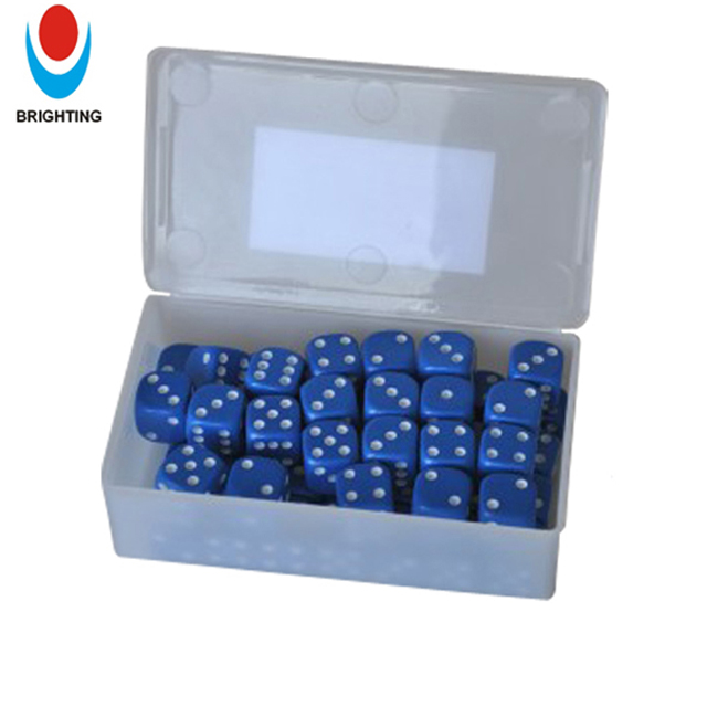 16mm Plastic Dice with Different Colors, 16mm Colored Educational Game Dice