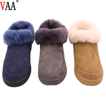 CF-302 Free Samples Unique Design Genuine Leather Lining Sheepskin Women Boots Slippers