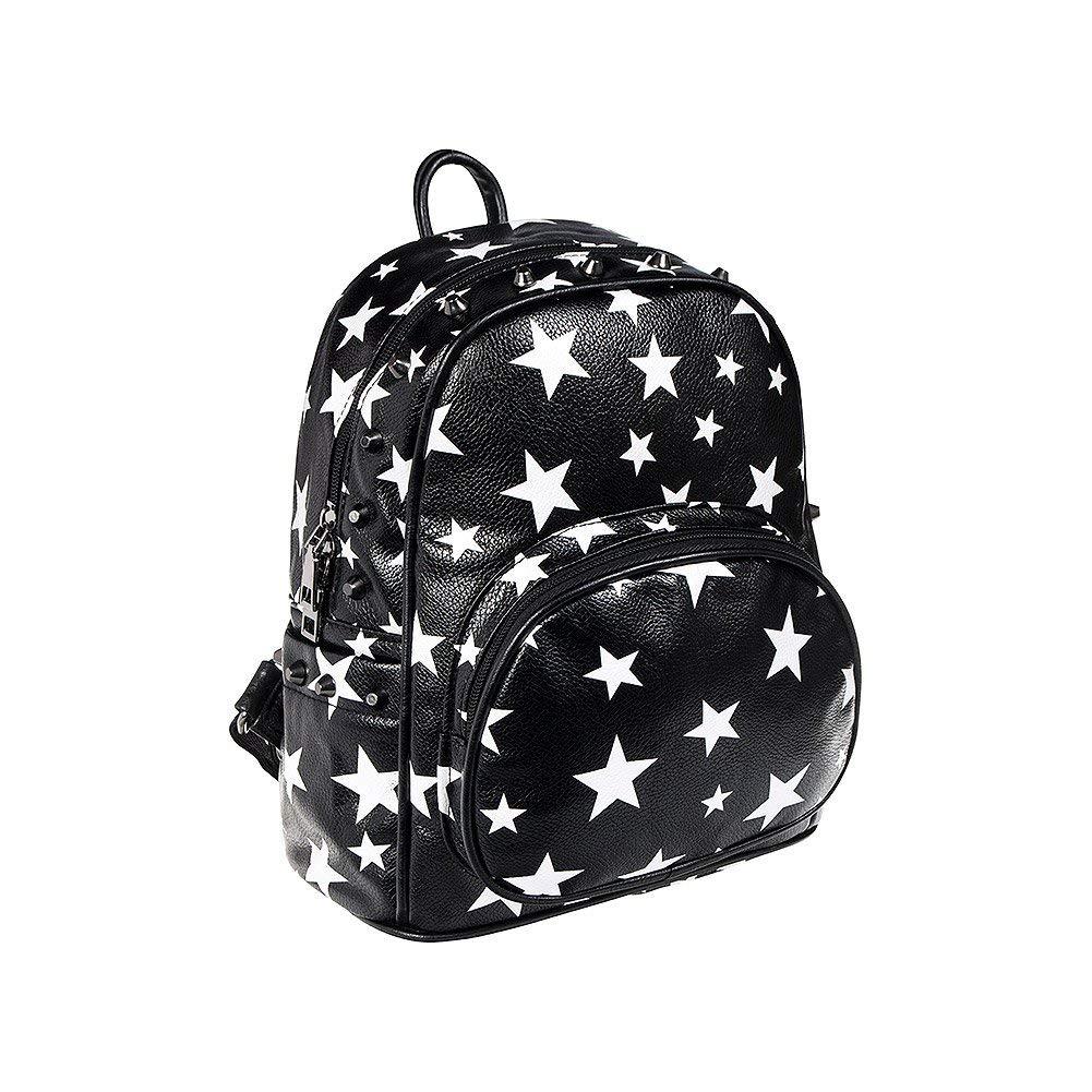 Blue Banana Stars & Studs Backpack (Black/White)