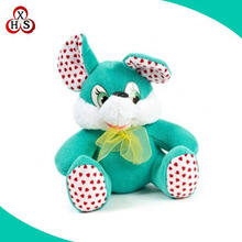 2016 custom mini plush stuffed bunny easter horn bunny plush