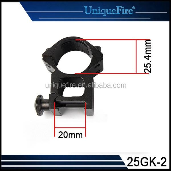 Hunting Gun Accessories 25.4mm Weaver Rings Hunting Riflescope 20mm Rail Scope Mount