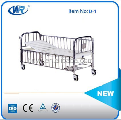 iso ce approved cheap manual semifowler hospital child bed