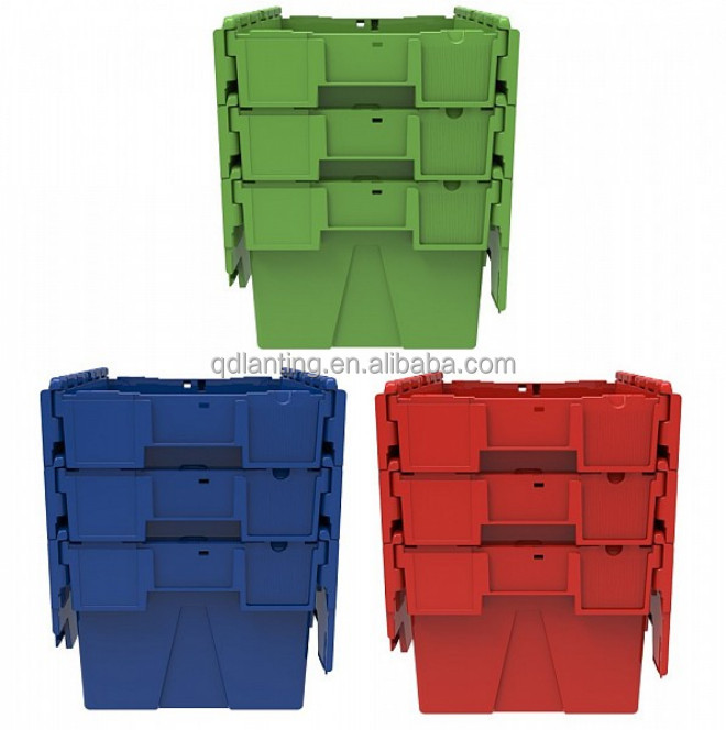 Plastic containers,attached lid containers,solid palstic crate