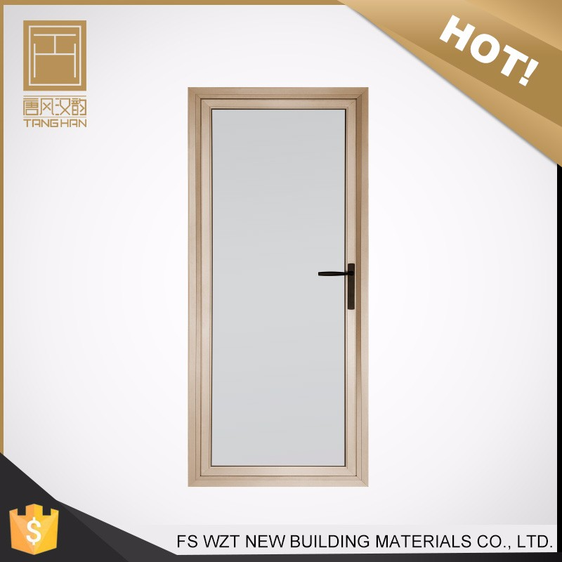 Hot sale small modern waterproof interior frosted glass bathroom door