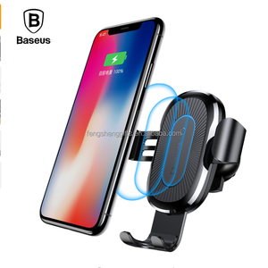 Baseus Car Phone Holder Qi Wireless Charger Mobile Phone Charger For iPhone X 8 Samsung S9 S8 Smartphone