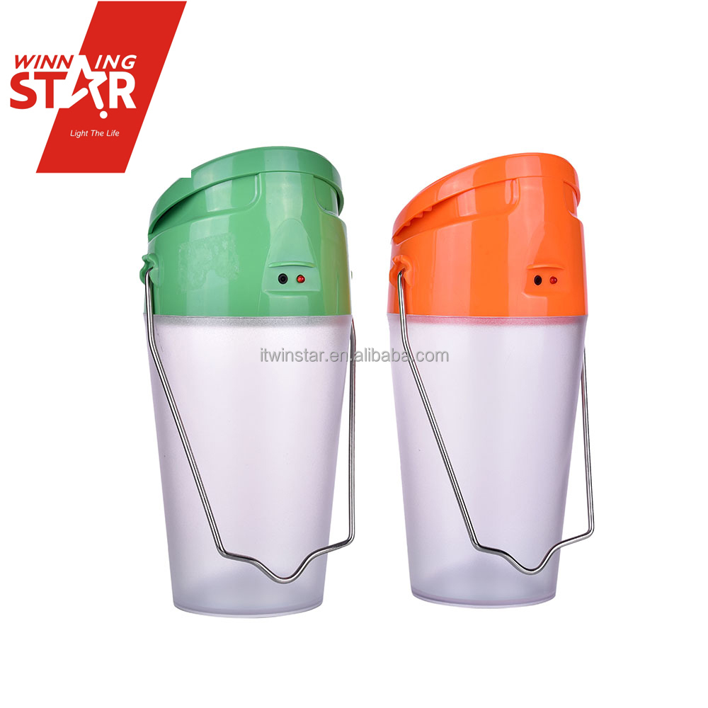 Cup Shape Portable Take-anywhere Solar LED Camping Lights for Riding