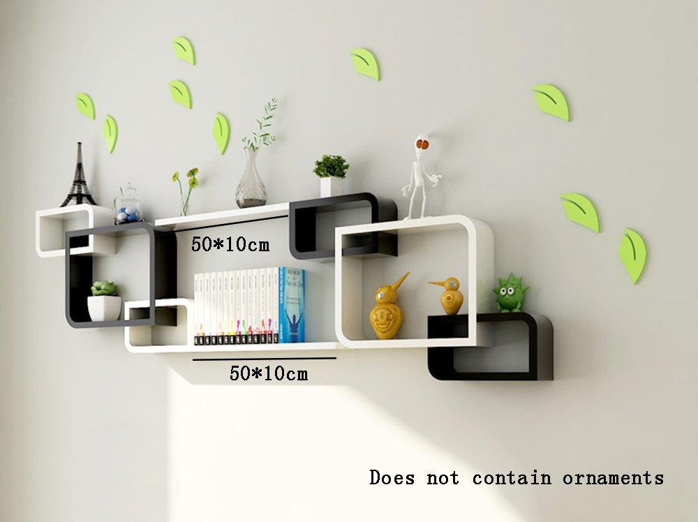 . Buy ALUS  Simple Modern Wood based Panels Floating Shelf wall