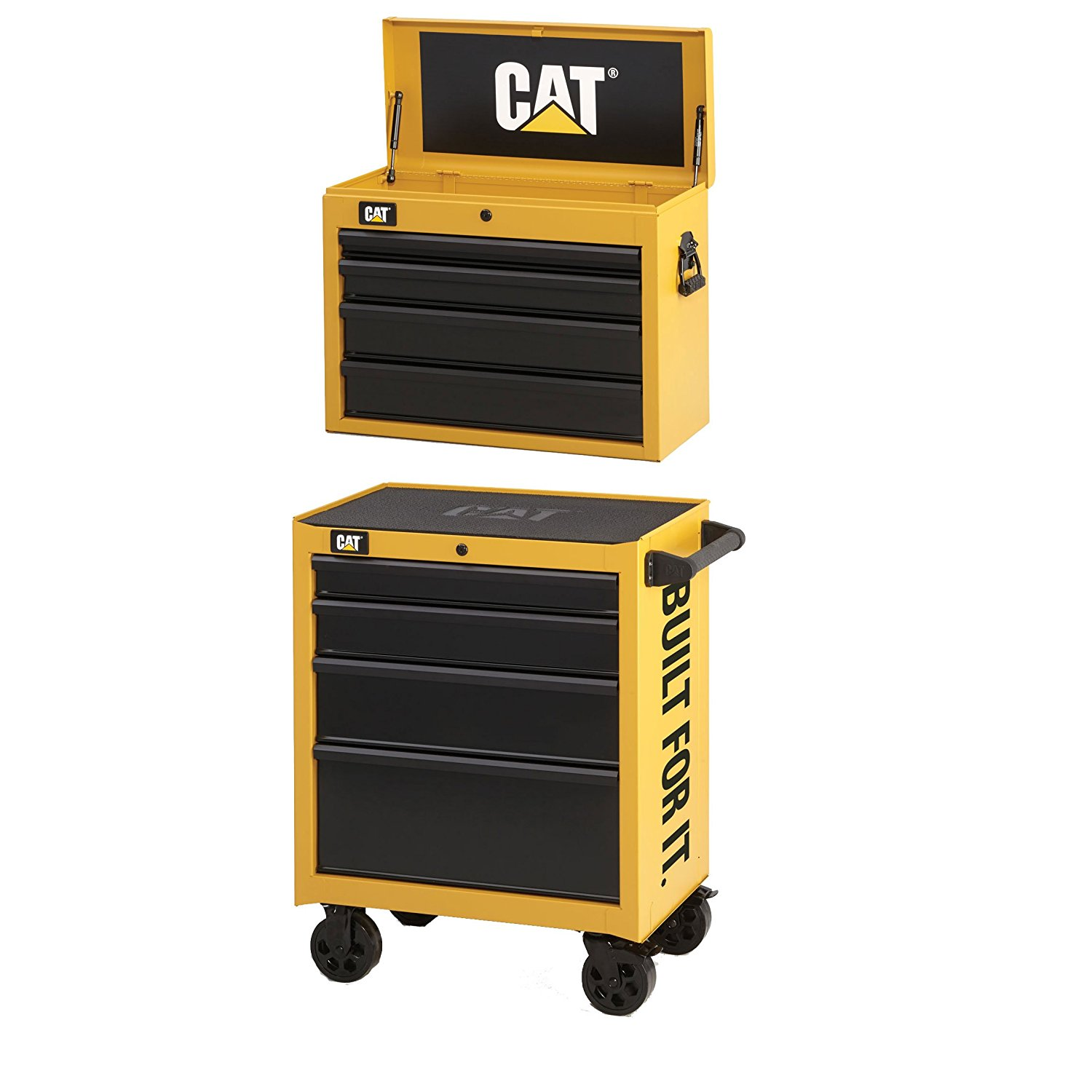 """Waterloo CAT CAT2-IND2604CA Caterpillar 26"""" Wide 4-Drawer Cabinet, Tool Chest"""
