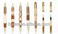 2013 New Design Wonderful Gift Pen Brand Wood Ball Pen