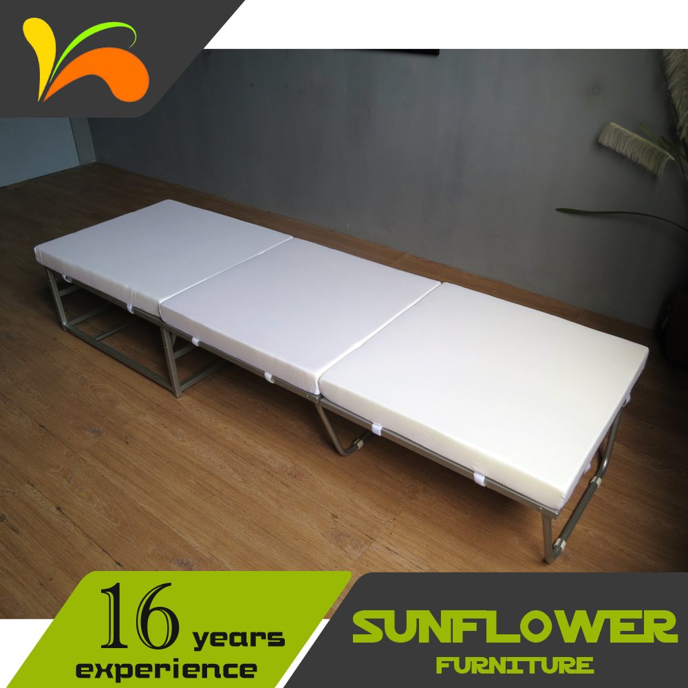 Movable folding furniture folding bed designs hot sell home furniture folding single bed
